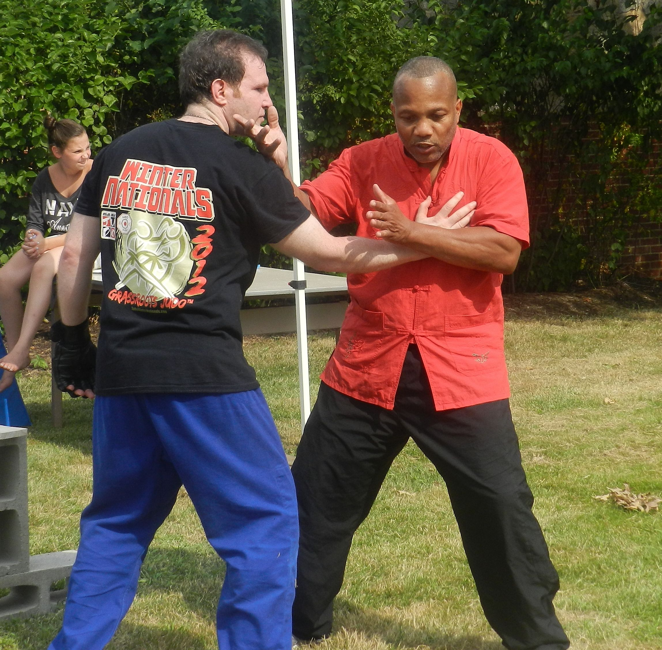 A martial arts demonstration at Science Exploration Day